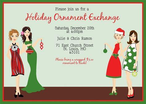 sle wording for ornament exchanges ornament ideas ornament exchange trade celebration invitation