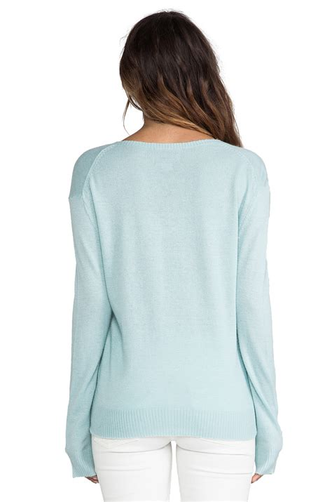 Sweater Normal Heartbeat Abu lyst wildfox brigittes sweater in mint in green