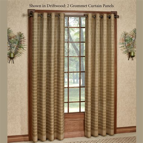 bamboo curtains with grommets bamboo light filtering grommet panel