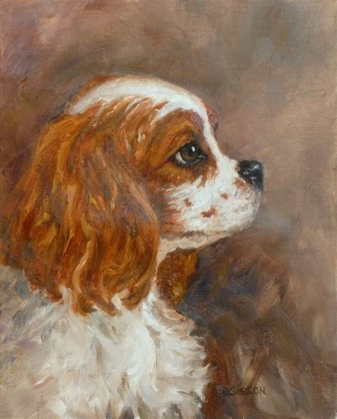 puppy painting daily painting projects cavalier profile painting