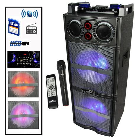 Subwofer Active 10 Inch Usb Sd Radio Input 3 5mm B Murah befree sound 10 inch subwoofer bluetooth portable speaker with reactive lights usb
