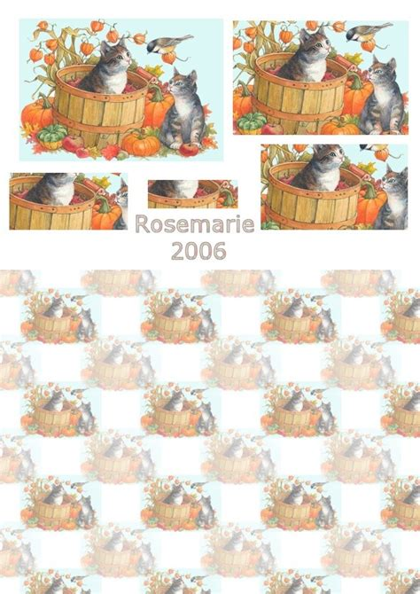 Free 3d Decoupage Sheets - 80 best images about decoupage sheets of cats on
