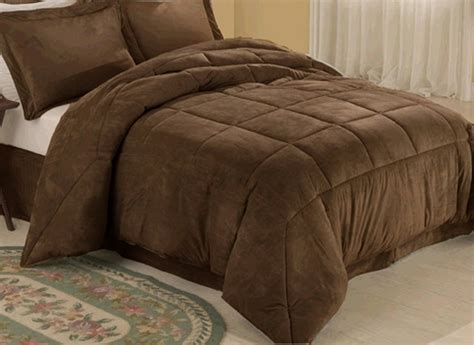 brown microsuede comforter chocolate microsuede down comforter alternative 4pc