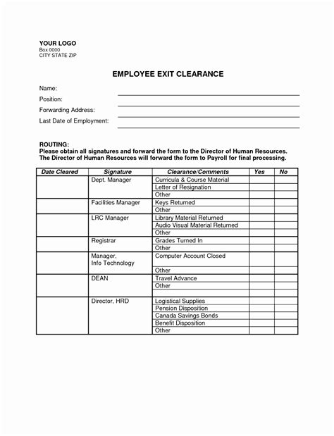 employee exit form 7 employee exit clearance form template aovte templatesz234