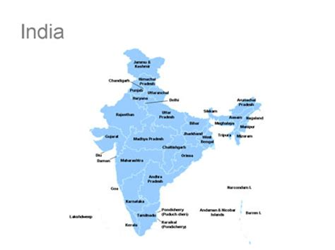 Editable India Powerpoint Map For Download India Ppt India Map Ppt