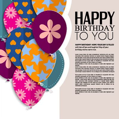 greeting card birthday template happy birthday greeting cards free vector 15 575