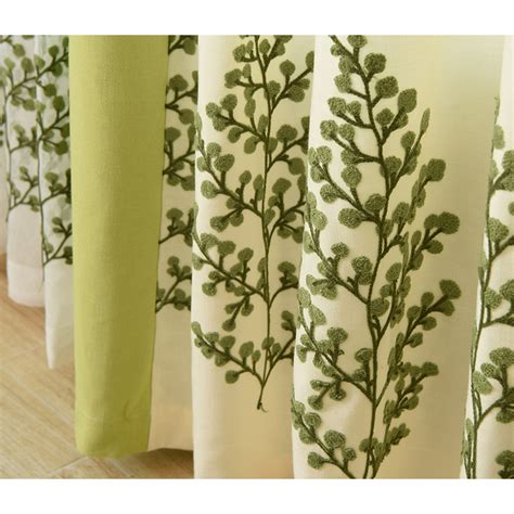 Green And Beige Curtains Beige And Lime Green Embroidered Curtains