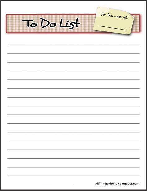 printable to do list templates