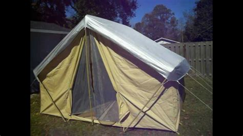 canvas wall tent ball and buck trek tents 245c 9 x 12 canvas wall tent youtube