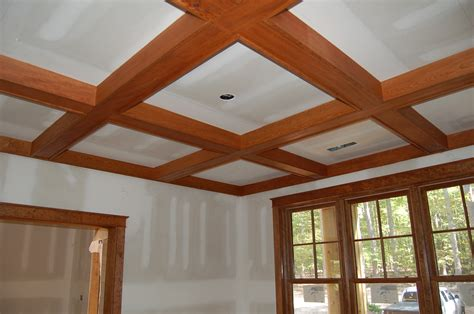 White Ceiling Beams Decorative by Interior Design Interesting Coffered Ceiling Cost For Home Cherry Wood With Glass Windows And