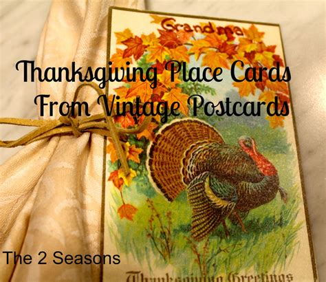 thanksgiving place cards for to make the 2 seasons the lifestyle