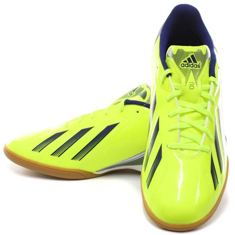 football shoes uk new adidas f10 in yellow navy mens indoor football boots