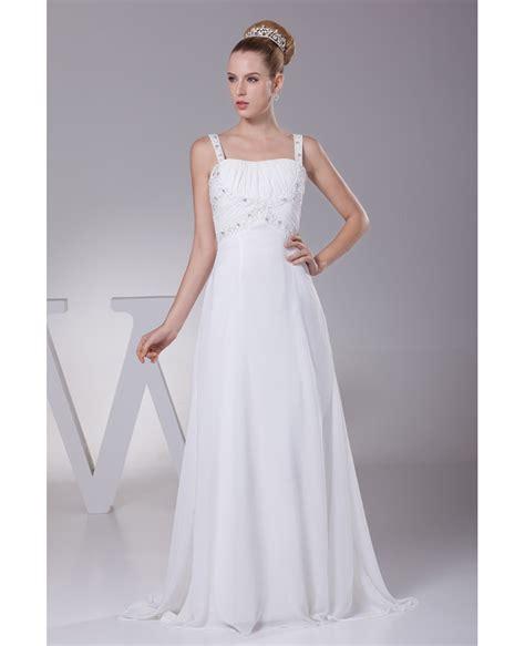 Organza Plain White Wedding Dresses by Strapless Column Organza Wedding Dress With Pleated Ruffle