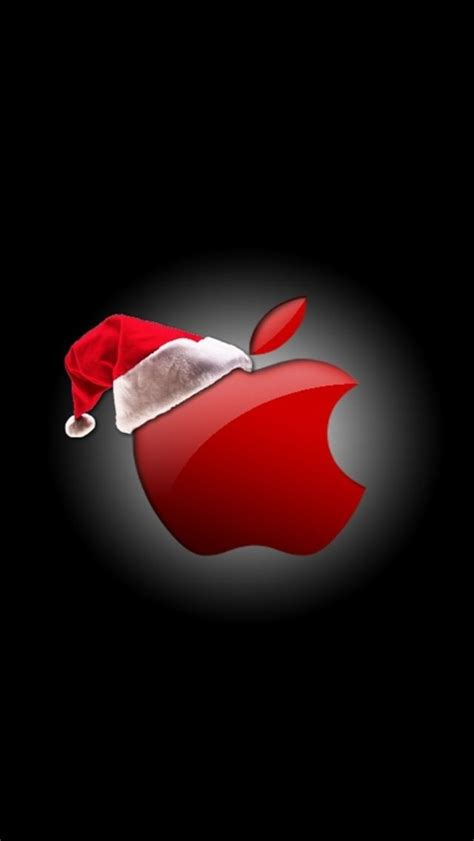wallpaper for iphone 5 holiday apple christmas logo iphone wallpaper pinterest