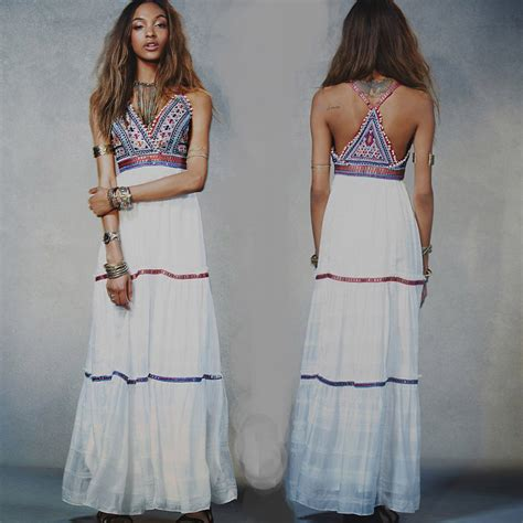 Summer Embroidery Dress 2016 summer embroidery hippie boho white