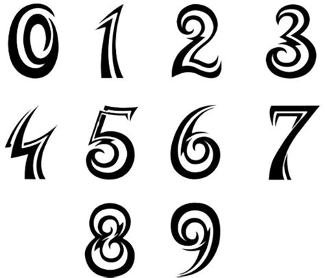 tattoo number fonts image result for http www lettering