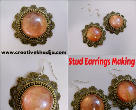 how to make sted jewelry stud earrings