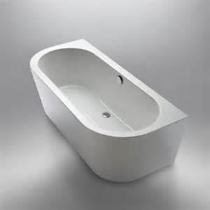 freistehende badewanne an wand repabad livorno 180 80 oval f wand freistehende badewanne