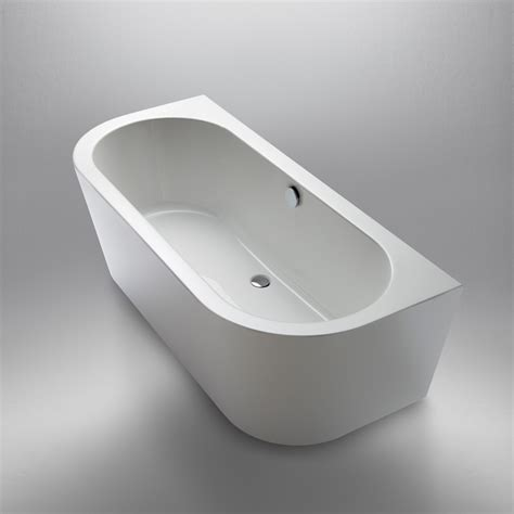 badewanne wand repabad livorno 180 80 back to wall freestanding oval