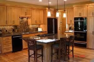oak cabinets with black appliances oak slate black appliances black appliances