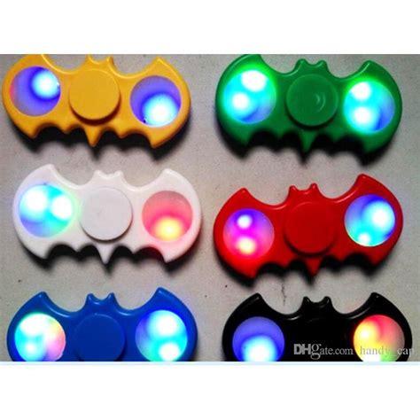 New Promo Fidget Spinner Batman Import Spinner Fidgeting Toys led light batman fidget spinners replaceable battery