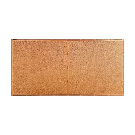 copper ceiling tiles fasade hammered 2 ft x 4 ft glue up ceiling tile in polished copper g56 25 the home depot
