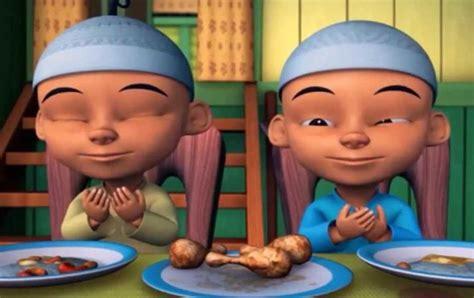 Aktivitas Upin Ipin Beternak Yuk belajar doa sebelum dan setelah makan yuk mari