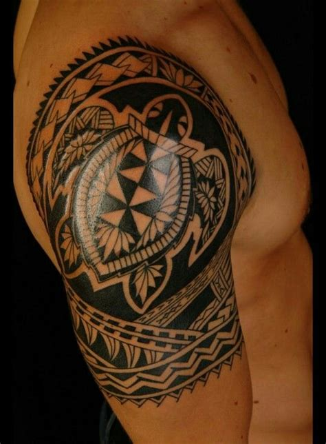 poly tattoo designs sleeve poly tribal with a turtle in it polynesian