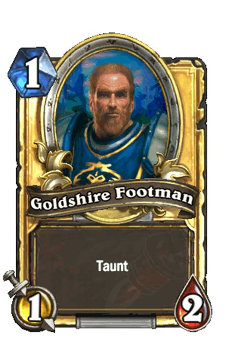 hearthstone legendary card template image goldshirefootman gif hearthstone heroes of