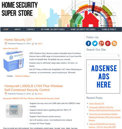 home security plr store website