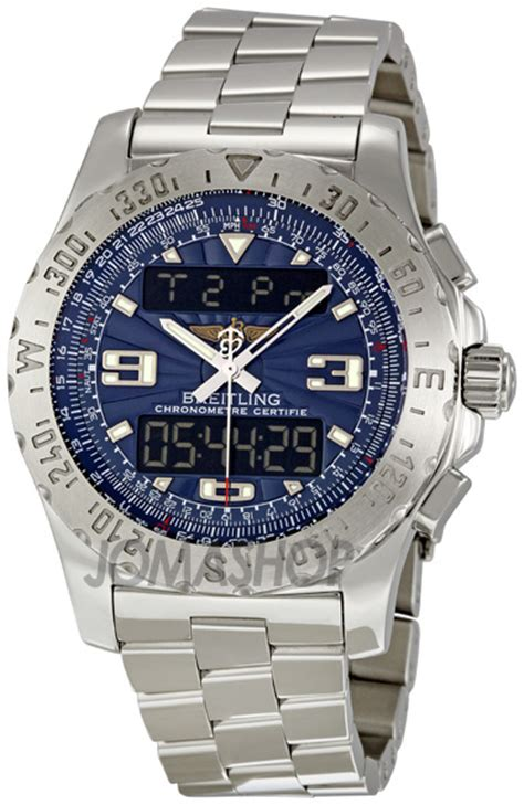 breitling airwolf blue analog digital s