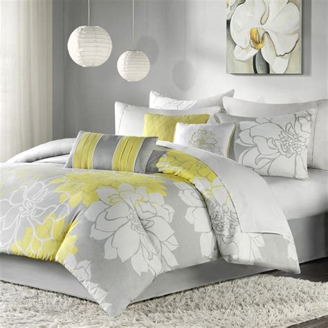 gray and yellow bedding bedding set archives the comfortables