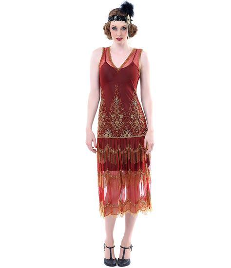 cabaret vintage vintage clothing vintage style dresses 1920 s style paprika gold seven voyages from unique vintage