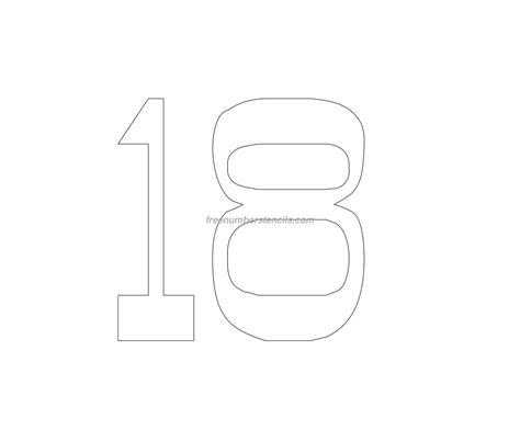 printable vintage number stencils free vintage 18 number stencil freenumberstencils com