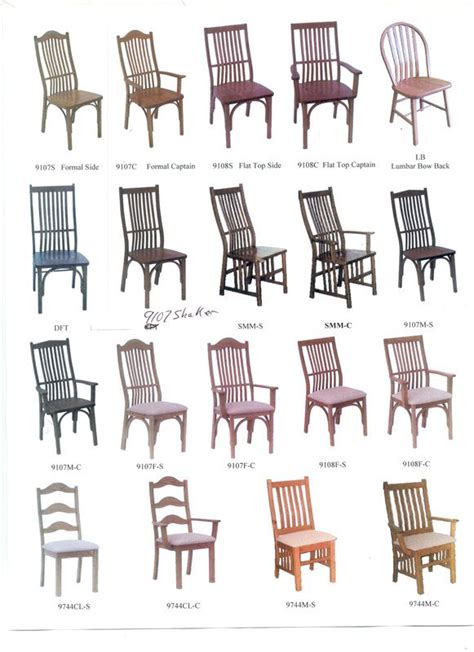Styles Of Dining Room Chairs by Chair Styles Kinney Custom Designs For New Dining