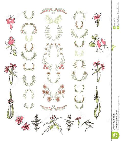 design elements symmetry floral graphic set vector illustration cartoondealer com