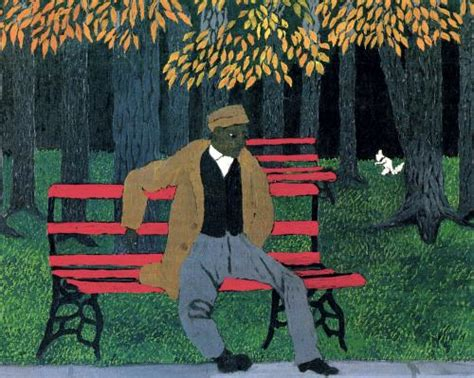 man on the bench man on a bench horace pippin wikiart org