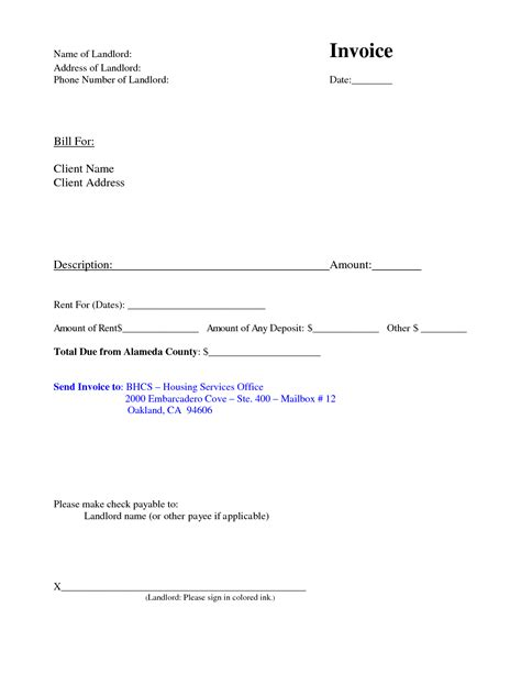 invoice template for rent invoice template for rent rabitah net