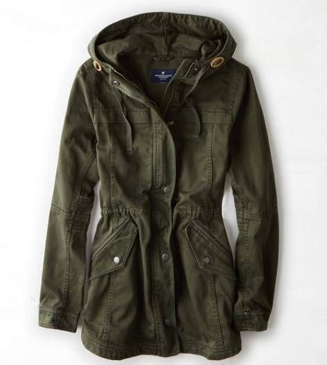 Jaket Parka Army Eagle aeo canvas anorak green american eagle outfitters my