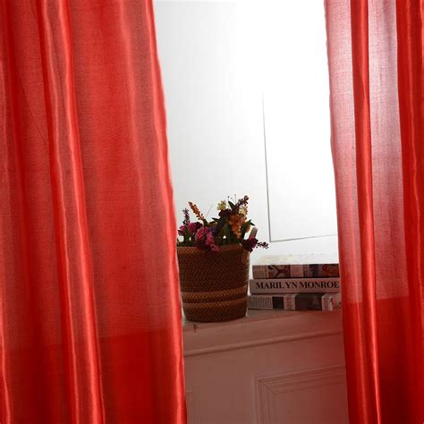 window solid screen curtains door room blackout lining