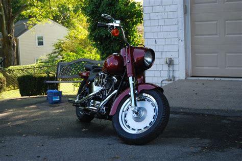 1999 Harley Davidson® FLSTF Fat Boy® (Burgundy), Saco