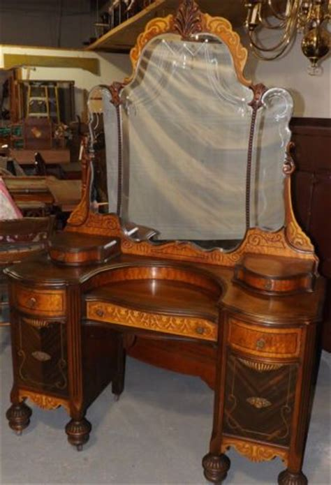 antique bedroom vanities for sale vintage art deco waterfall bedroom 4 piece set bed armoire