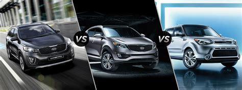Difference Between Kia Sportage And Sorento 2016 Kia Soul Sportage And Sorento Size Differences