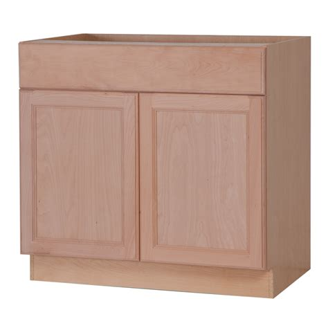 Lowes Cabinet Doors Unfinished Shop Style Selections 36 In W X 34 5 In H X 24 6 In D Unfinished Door And Drawer Base Cabinet At