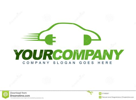 electric vehicles logo electric car logo royalty free stock photography image