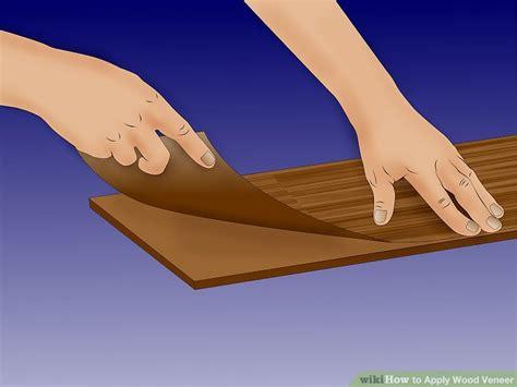 apply wood veneer  steps  pictures wikihow