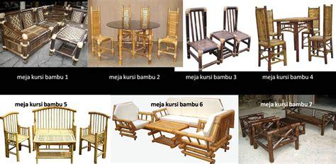 Kursi Meja Bambu taman bambu nusantara aneka model furnitur dari bambu