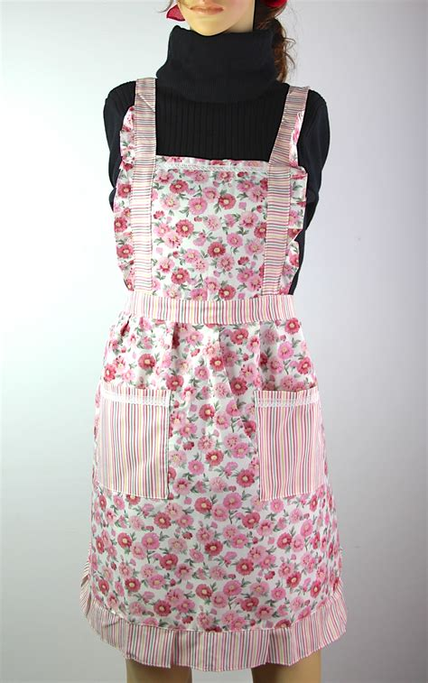 pattern chef apron rose flower pattern women chefs cooking cook apron tabard