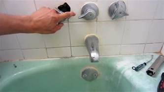 how to replace old bathtub faucet repair leaky shower faucet youtube
