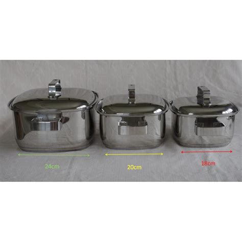Gas Pot Stainless Steel Casserole High Quality Square Soup Pot
